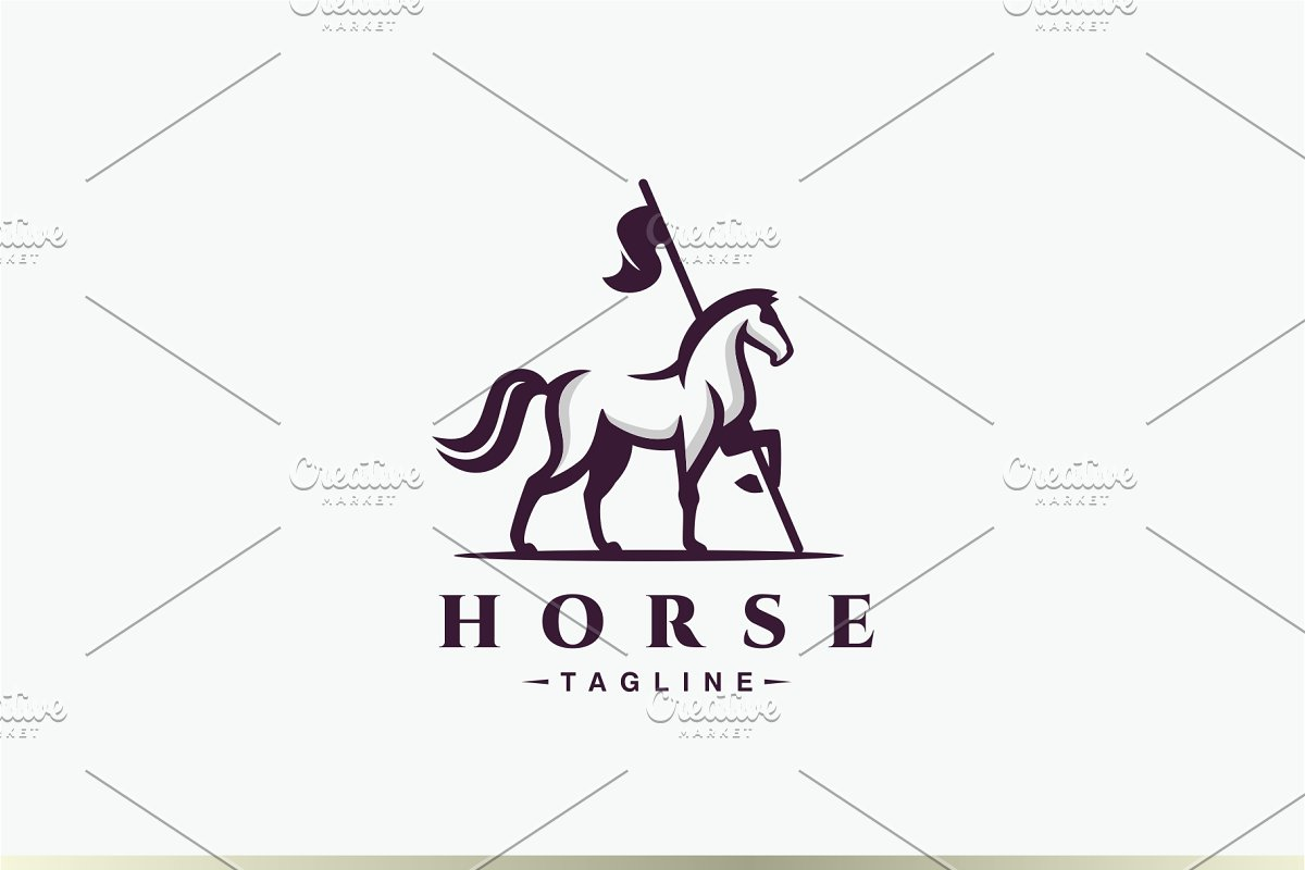 Horse Flag Logo