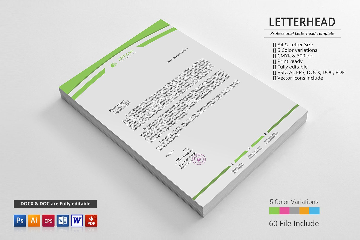 Corporate letterhead stationery templates creative market thecheapjerseys Images