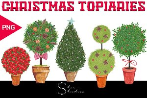 Christmas Topiaries pack
