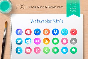 Vector Social Media Icons -ProColour