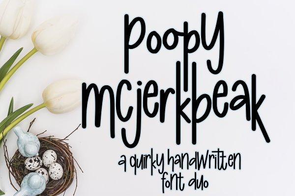 Poopy McJerkbeak Font - Quirky Font