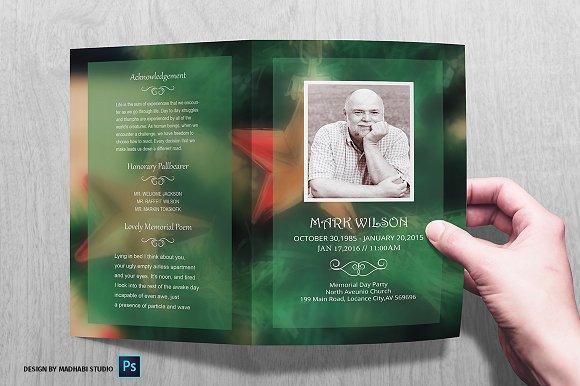 christmas funeral program template brochure templates creative