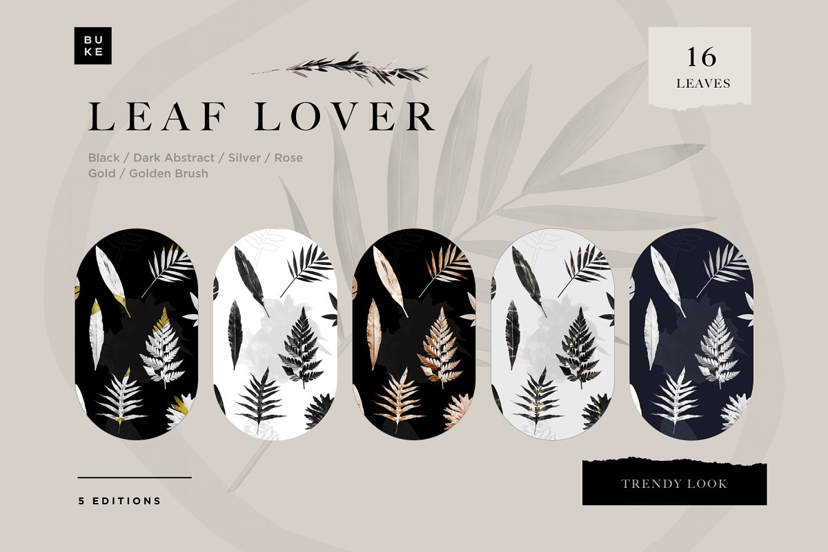 Leaf Lover - Botanicals Art Bundle