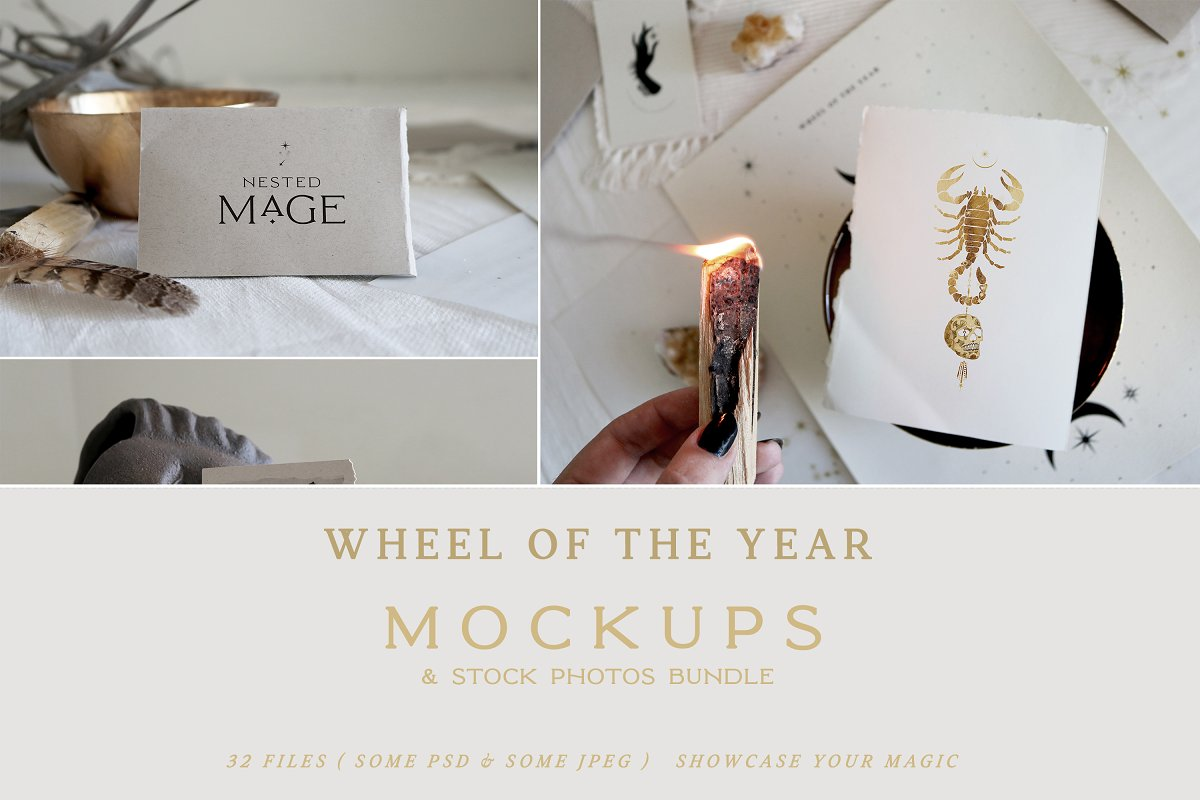 Wheel of the Year Mockups & Photos
