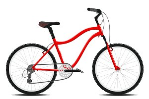 Red Bicycle on a white. Vector.