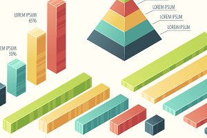 Big set of 3d infographic elements