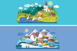Nice Alps Landscapes.