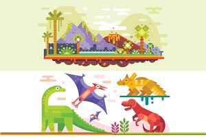Awesome Prehistoric Dinosaur Set.