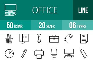 50 Office Line Icons