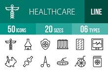 50 Healthcare Line Icons