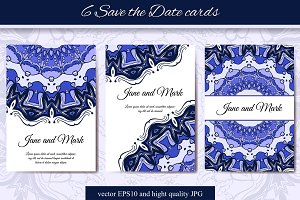6 Save the Date cards - 2