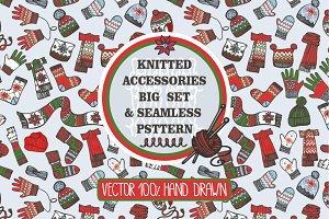 Knitted accessories set & pattern