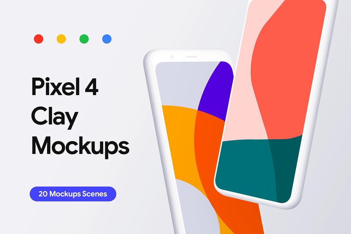 Pixel 4 4 Xl 20 Clay Mockups Mobile Web Mockups