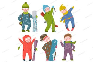 Skier Snowboarder Winter Sports