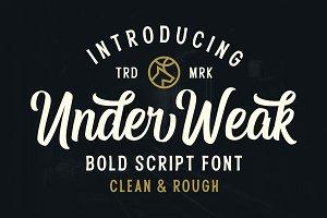 Under Weak Script Font