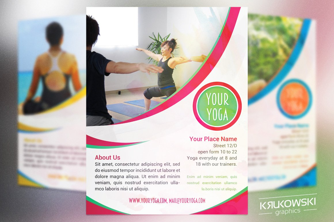 meditation and yoga flyer templates flyer templates creative market