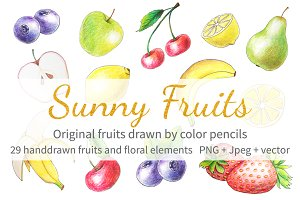 Sunny fruits collection