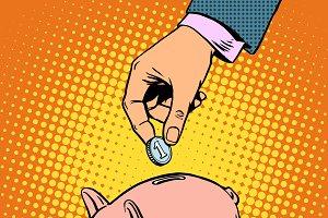 Piggy Bank contribution money