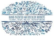 watercolor border