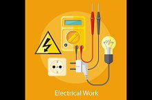 Electrical Work Concept