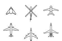 Vector line aircraft set