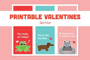 Printable Valentines – Set Five
