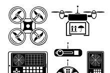 Vector quadrocopter & drone icon set