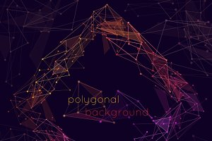 Wireframe polygonal background