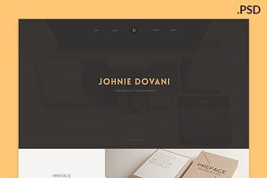Johnie PSD - One Page Porfolio
