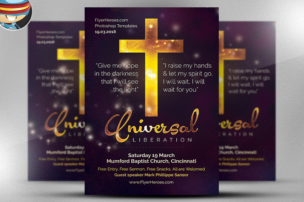 christian flyer template photos graphics fonts themes universal liberation church flyer