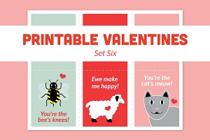 Printable Valentines – Set Six
