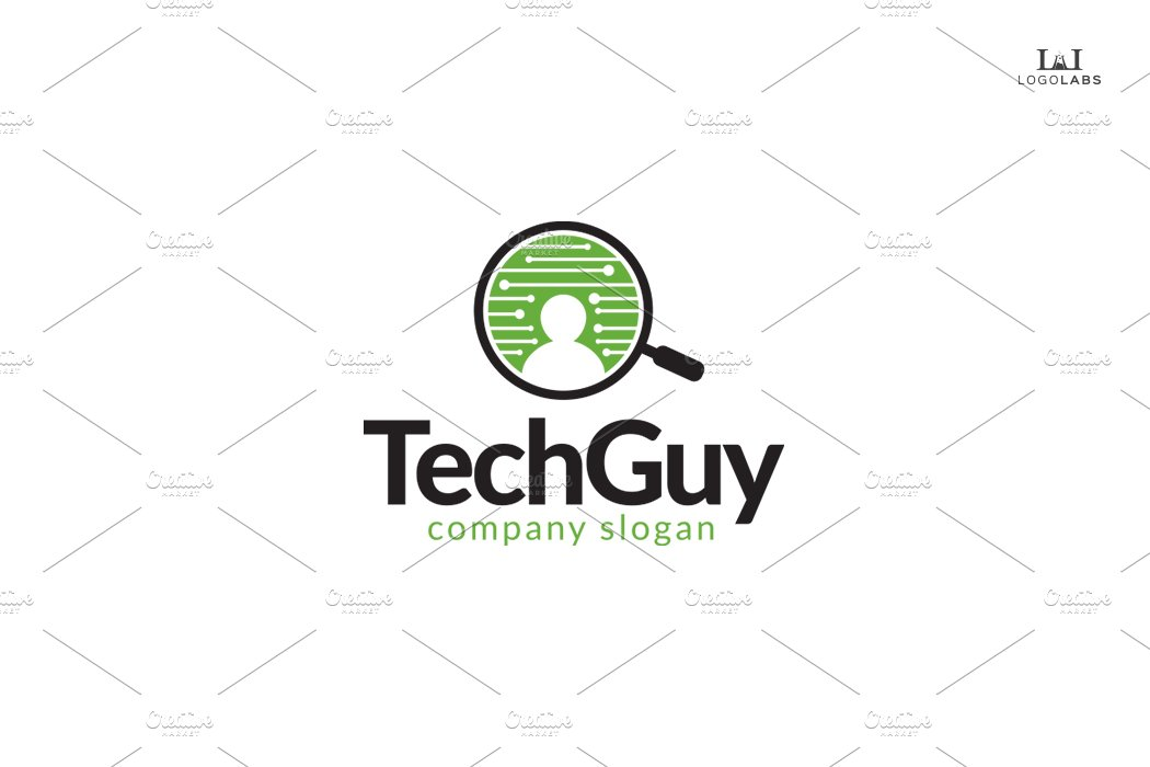 Tech Guy Logo ~ Logo Templates ~ Creative Market