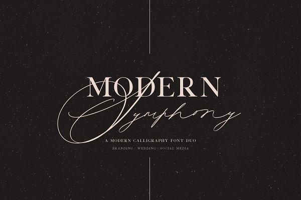Modern Symphony Font Duo
