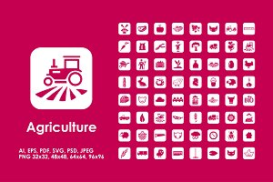 64 agriculture icons