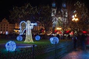 Holiday lights, Staromestska square