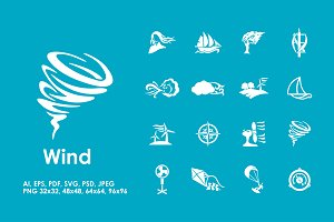 16  wind icons