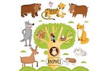 Animals vector set.