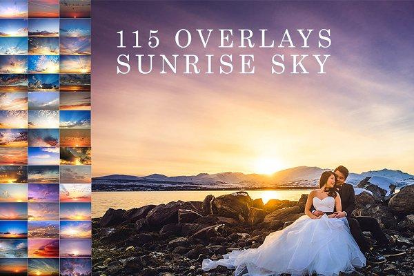 115 Sunrise sky photo overlays