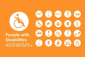20 people with disabilies icons