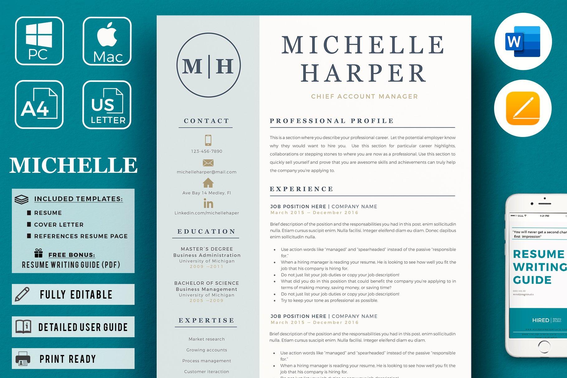 michelle harper and resume
