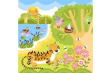 Animals on the forest.
