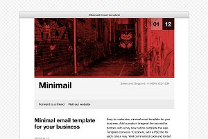 Minimail HTML Email Template