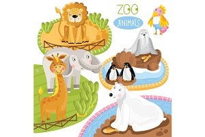 Set of vector animals.