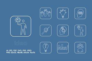 9 idea icons