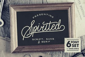 Spirited • 6 Fonts + Swashes