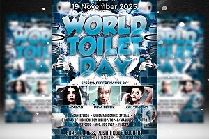 World Toilet Day Flyer Template