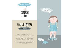 Childrens fears. Vector illustration
