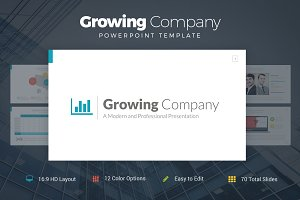Growing Company PowerPoint Template