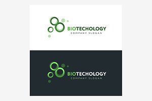 Biotechnology logo design template