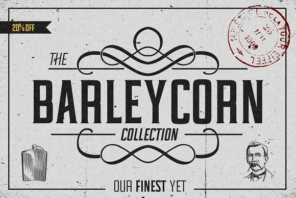 Barleycorn Typeface in Serif Fonts - product preview 5